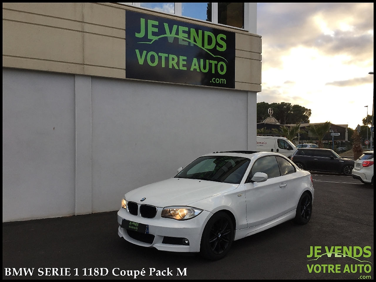 voiture bmw s rie 1 118d 143ch coupe pack m occasion diesel 2011 87800 km 14990. Black Bedroom Furniture Sets. Home Design Ideas