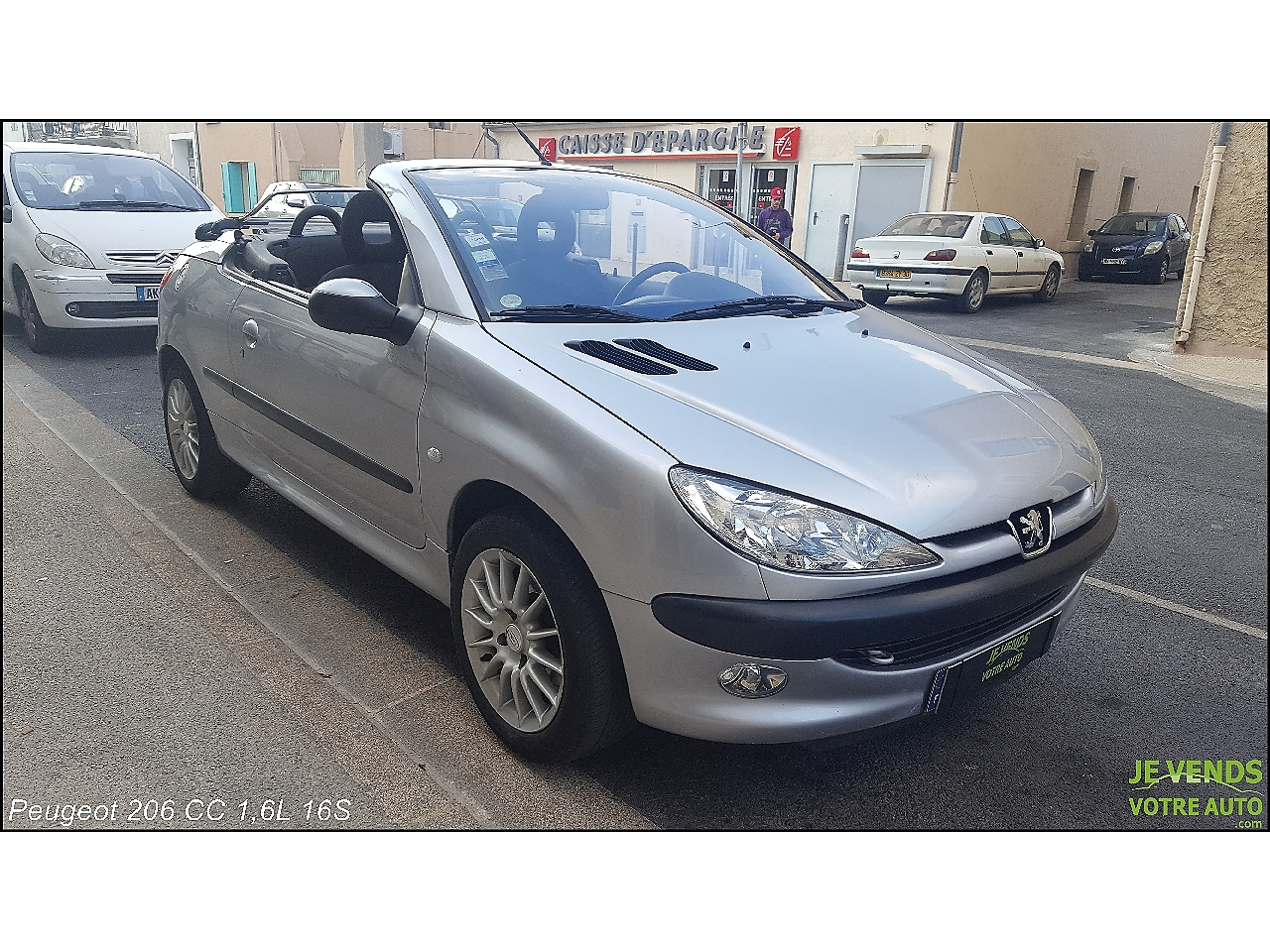 voiture peugeot 206 cc 1 6 16v 110ch 2001a occasion essence 2001 106000 km 3590. Black Bedroom Furniture Sets. Home Design Ideas